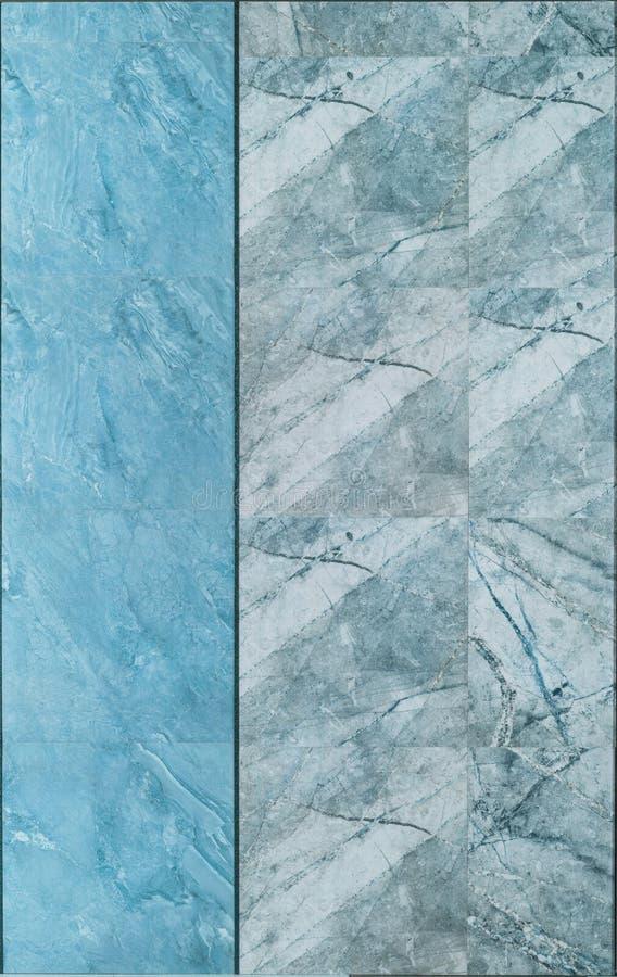 Мраморная текстура стены плитки в голубом и сером цвете стоковые изображения rf