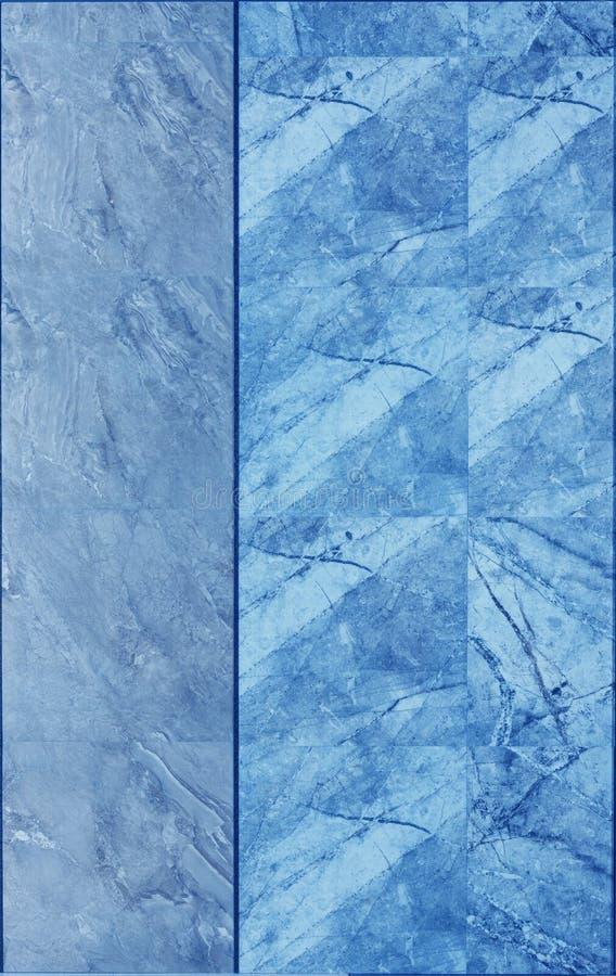 Мраморная текстура стены плитки в голубом цвете стоковые фото