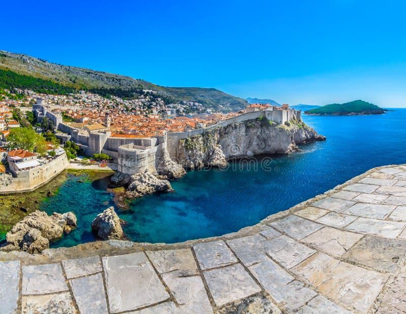 Мраморный ландшафт в Дубровнике riviera, Хорватии стоковая фотография rf