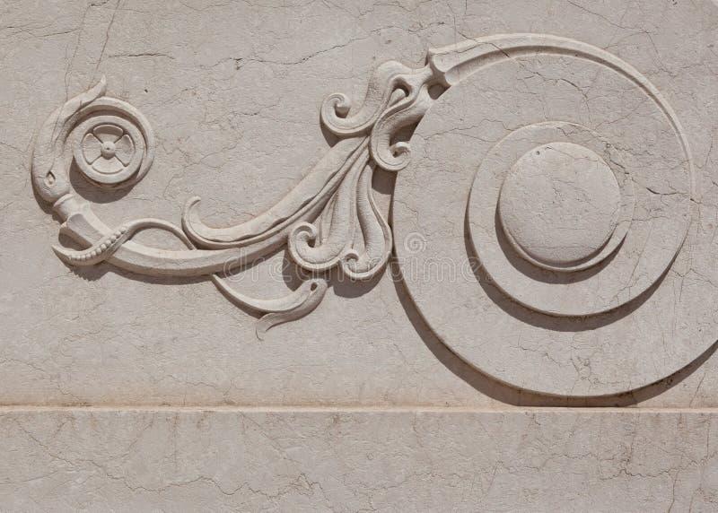 мраморный богато украшенный перечень стоковое фото rf