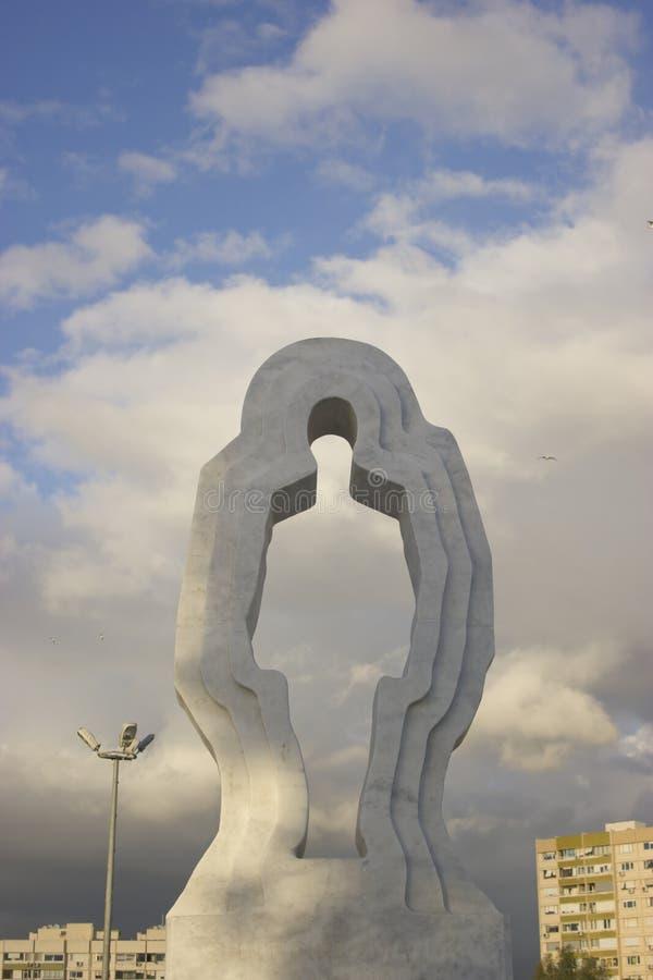 Мраморный камень продырявил фото скульптуры стоковые фото