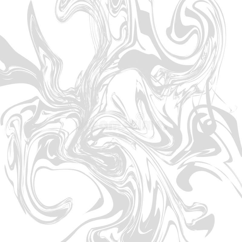 Мраморными покрашенная чернилами monochrome пастельная текстура предпосылки иллюстрация вектора