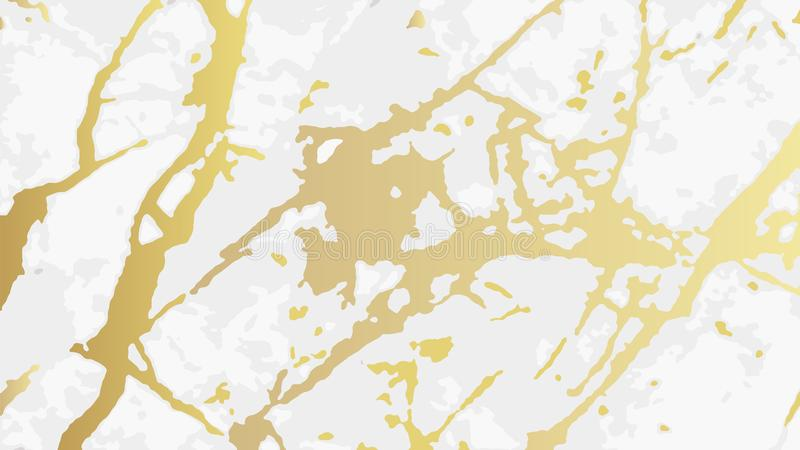 Мрамор золота, картина вектора с золотой предпосылкой текстуры фольги иллюстрация вектора