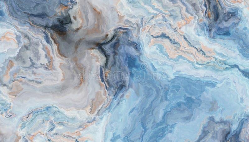 мрамор сини предпосылки иллюстрация штока