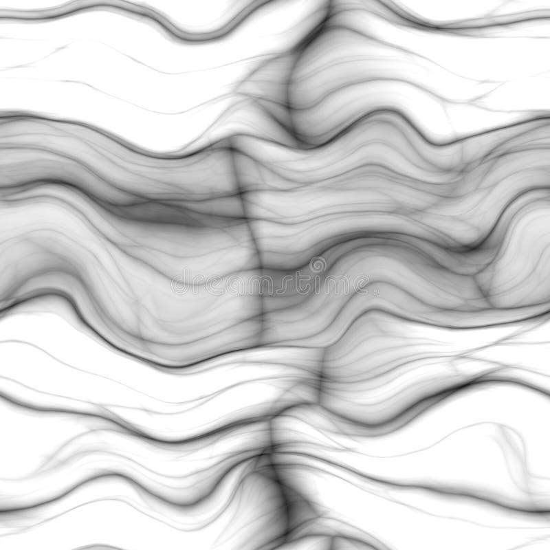 Мрамор - чернота, бело- безшовная предпосылка иллюстрация вектора