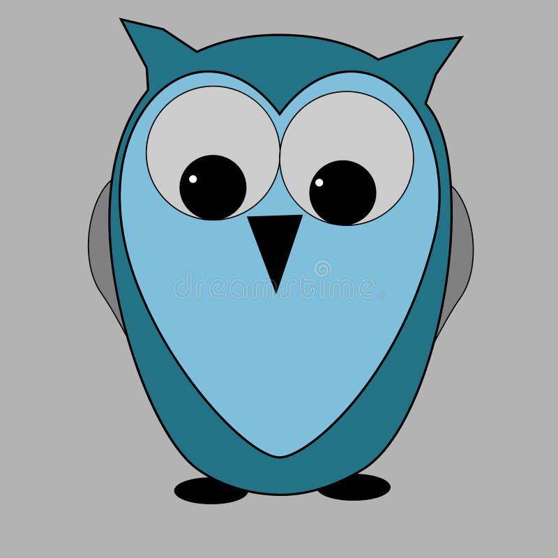Мудрый голубой сыч бесплатная иллюстрация