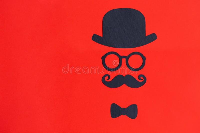 Мужская картина силуэта концепция movember Смешная ретро сторона стоковые изображения