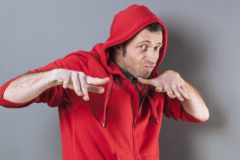 Мужская концепция отрочества для вспугнутого среднего возраста стоковое фото
