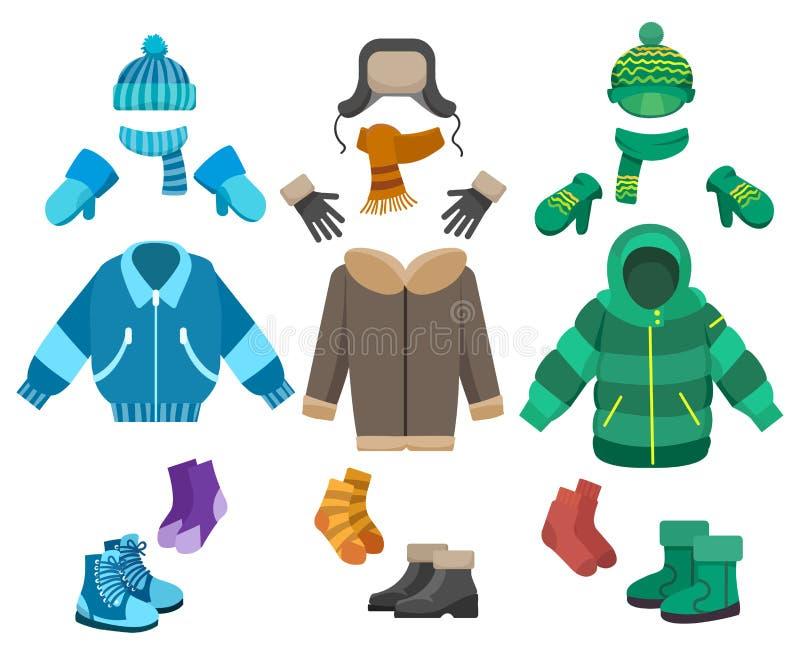 Мужская одежда зимы иллюстрация штока