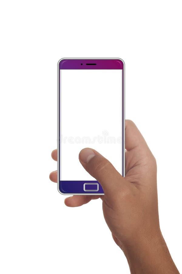Мужская рука держа современный smartphone стоковые фото