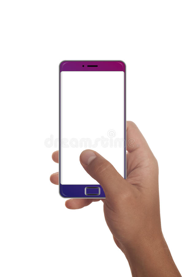 Мужская рука держа современный smartphone стоковые изображения
