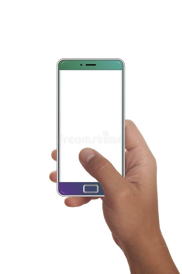 Мужская рука держа современный smartphone стоковая фотография