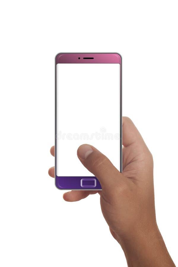 Мужская рука держа современный smartphone стоковое изображение rf