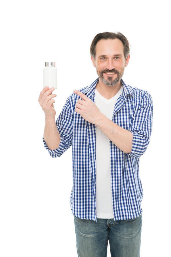 Мужские здоровье и мощь Фармация и больница Концепция медицин Здоровье бесценно Зрелый человек держа витамины стоковая фотография
