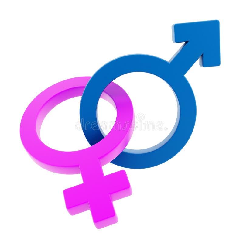 Мужские и женские спутанные знаки стоковые фотографии rf