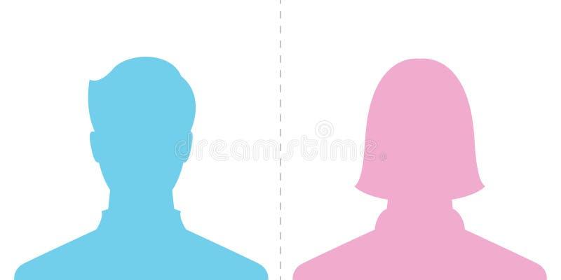 Мужское и женское изображение профиля бесплатная иллюстрация
