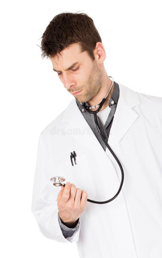 Мужской доктор, концепция здравоохранения и медицина стоковая фотография rf