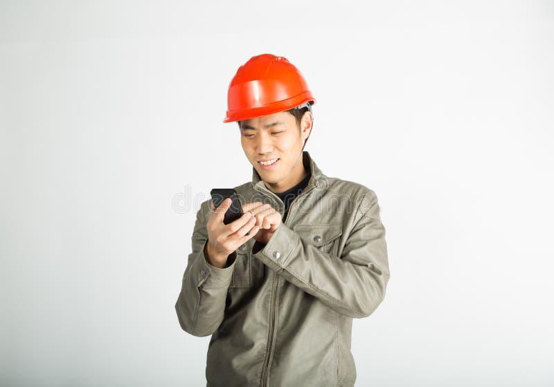 Мужской рабочий-строитель стоковая фотография rf