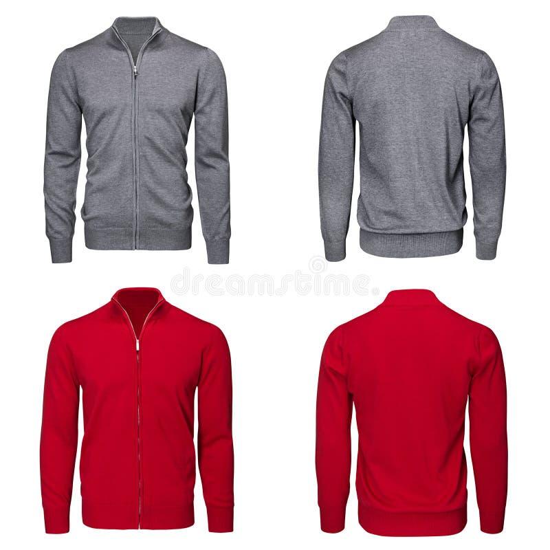 Мужской серый и красный свитер стоковая фотография rf