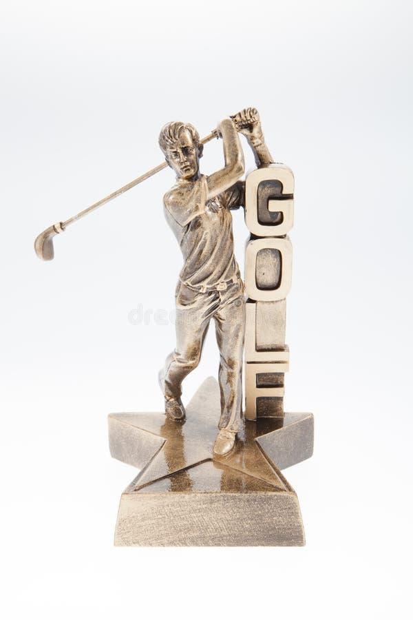 Мужской трофей гольфа стоковое фото