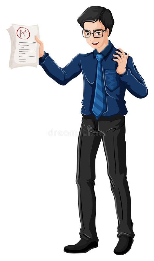 Мужской учитель иллюстрация штока