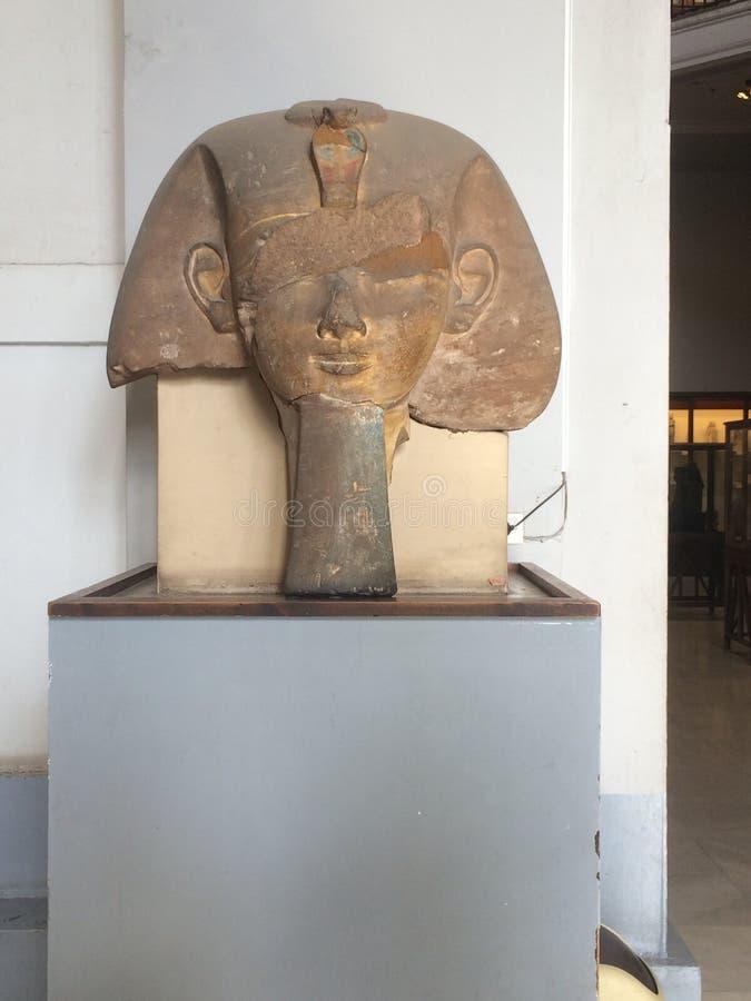 Мужской фараон на музее Каира в Египте Deir, араб Старый, древности стоковая фотография