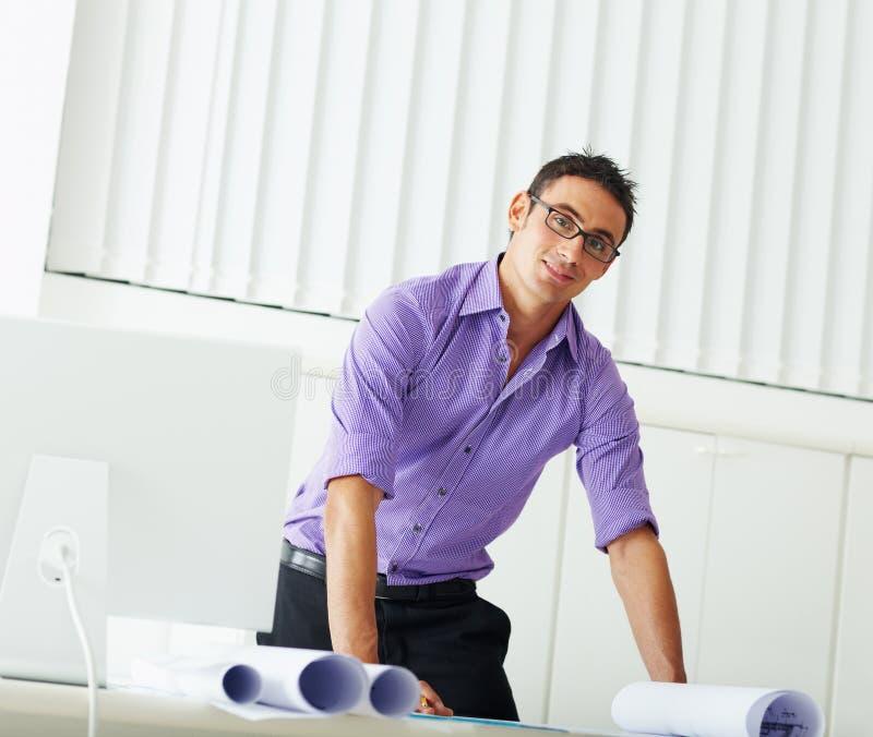 мужчина архитектора стоковые фотографии rf
