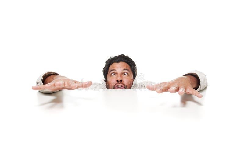 мужчина волос темной стороны чокнутый стоковое фото rf