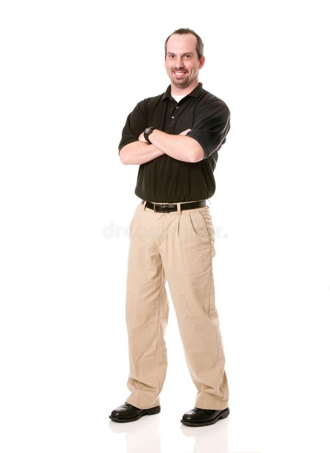 мужчина дела вскользь стоковое изображение rf