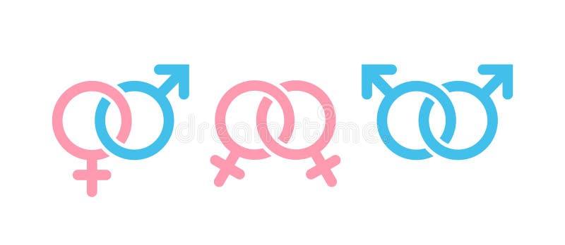 Мужчина и женская комбинация символа Символы рода и сексуальной ориентации бесплатная иллюстрация