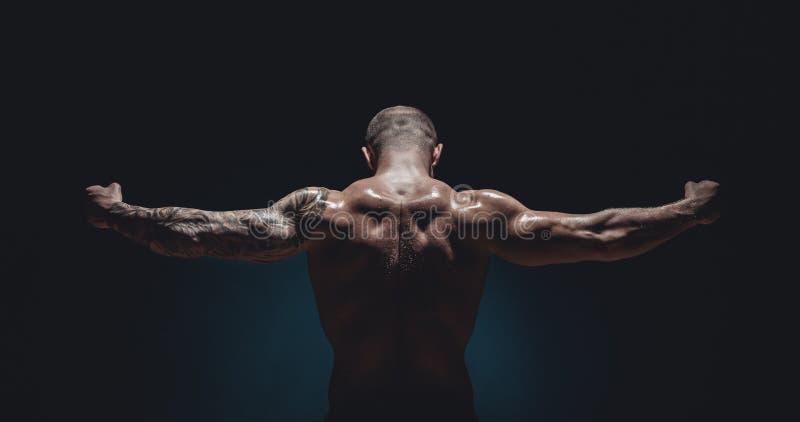 мужчина культуриста мышечный стоковая фотография