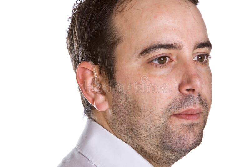 Download мужчина слуха помощи красивый Стоковое Изображение - изображение насчитывающей инвалидность, глухота: 6861461
