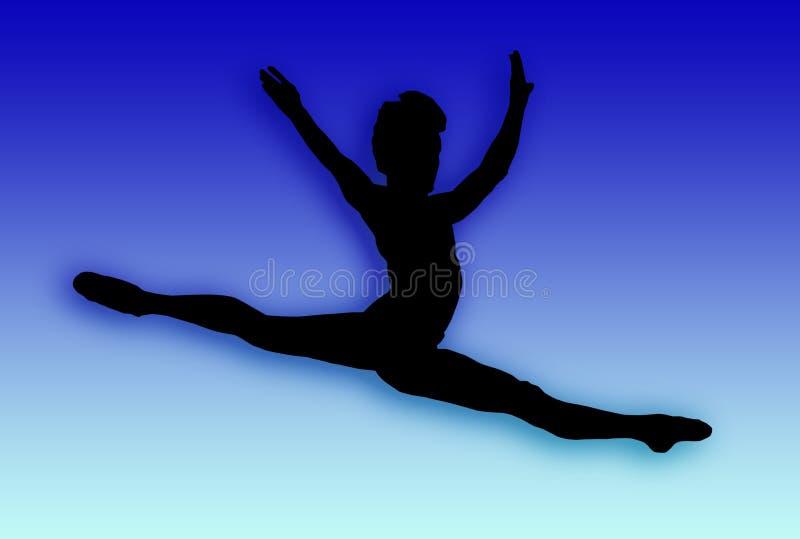 мужчина танцора скача иллюстрация штока