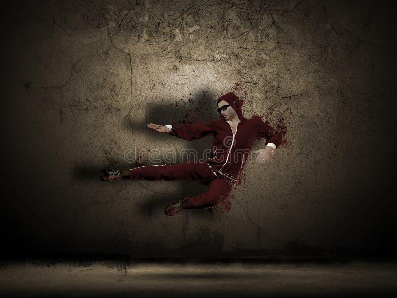 мужчина grunge танцора иллюстрация штока