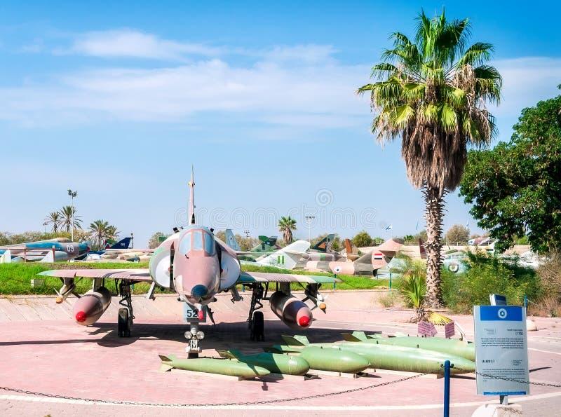 Музей авиации в пиве-Sheva Израиль стоковые изображения
