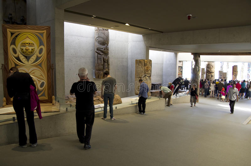 Музей антропологии на UBC стоковое фото rf