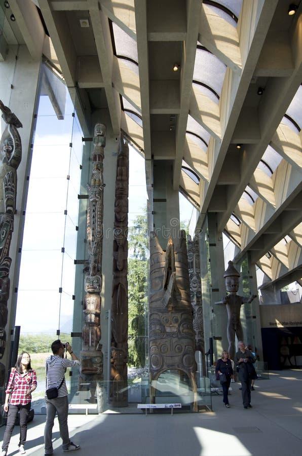 Музей антропологии на UBC стоковые фото
