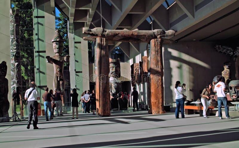 Музей антропологии, UBC, Ванкувера ДО РОЖДЕСТВА ХРИСТОВА стоковая фотография rf