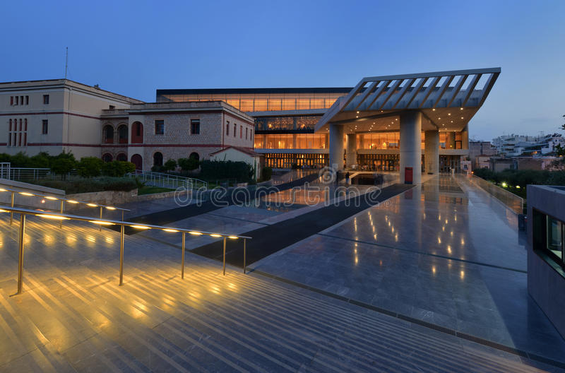 Музей Афин Греция акрополя стоковая фотография