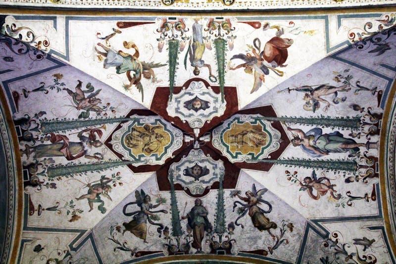 Музей Ватикана фрески стоковые фото