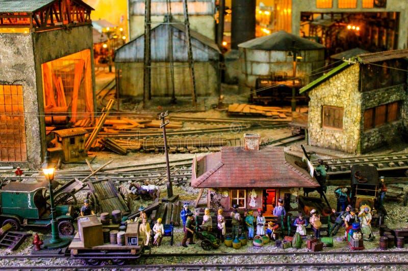 Музей версии Кубы фабрики сахара мини стоковые фото