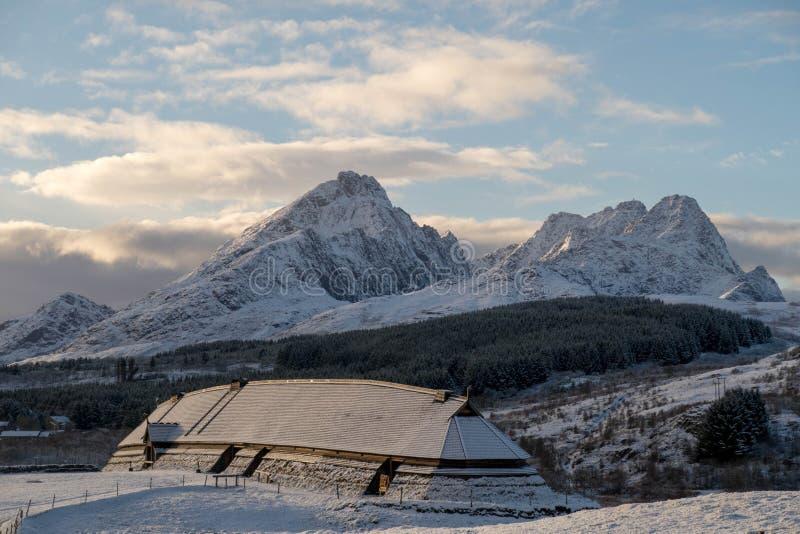 Музей Викинга, Lofoten, Норвегия стоковая фотография