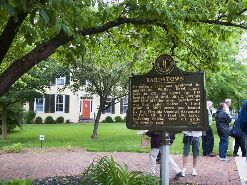 Музей в центре посетителя в Bardstown Кентукки США стоковое изображение rf