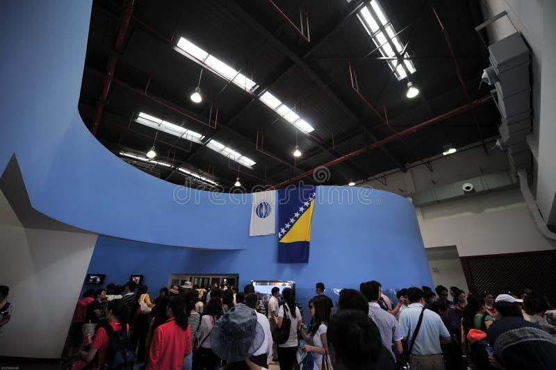 Музей 2010 города Шанхая экспо Китая земли стоковая фотография