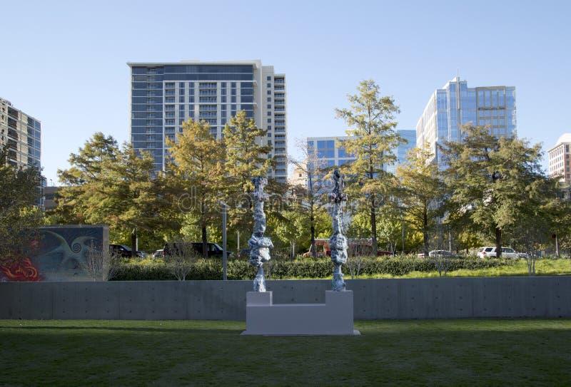 Музей Далласа искусств и современных зданий стоковые изображения rf