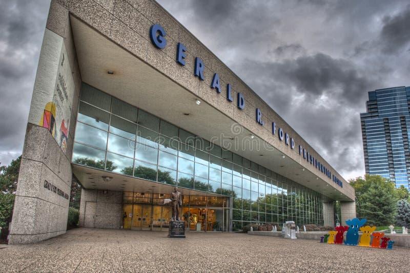 Музей Джеральда r Форда в Гранд-Рапидсе стоковые фото
