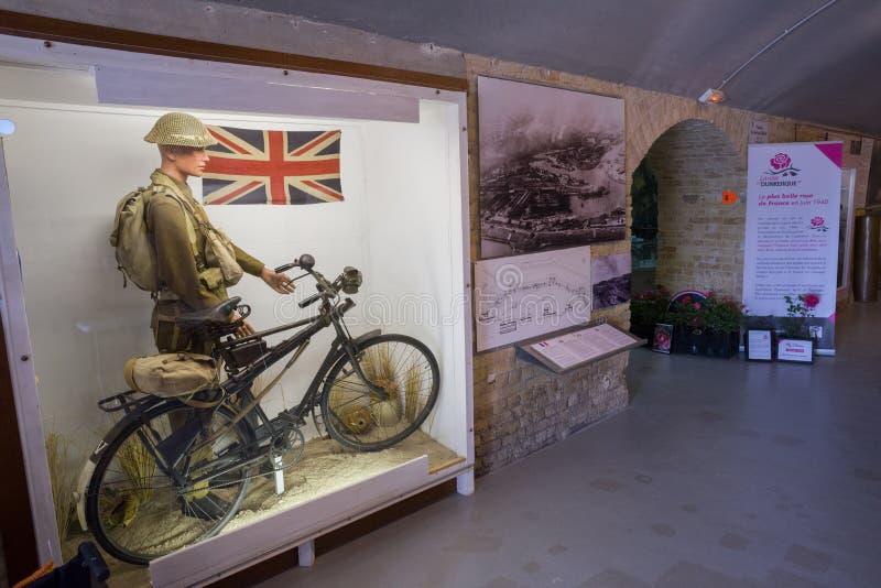 Музей 1940 Дюнкерка показывает сражение Дюнкерка стоковое изображение