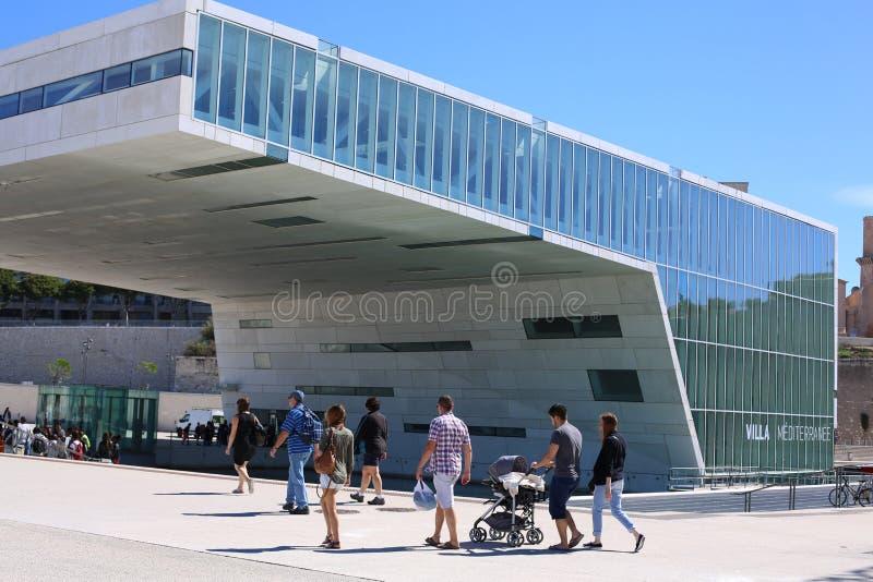 Музей европейской и среднеземноморской цивилизации стоковая фотография