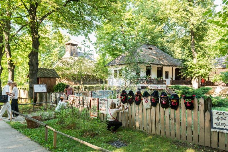 Музей деревни Dimitrie Gusti национальный (Muzeul Satului) стоковые фотографии rf