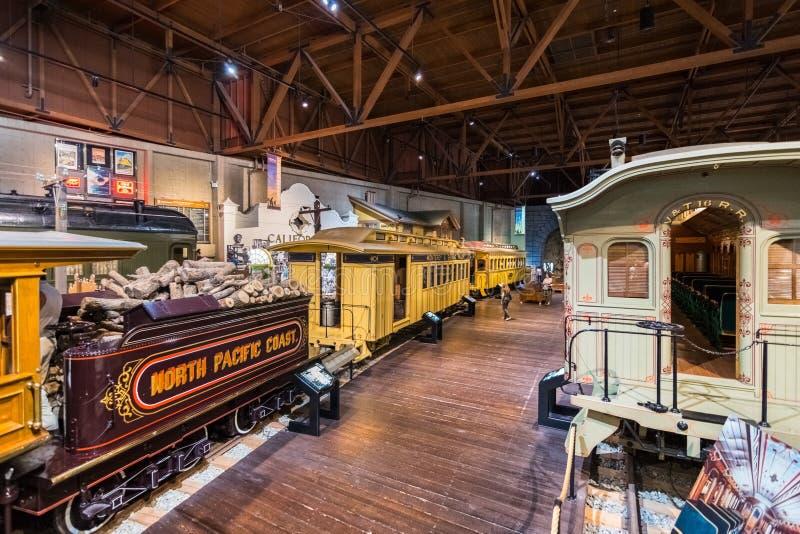 Музей железной дороги государства Калифорния стоковая фотография rf
